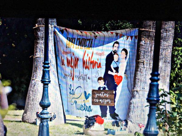 Photocall boda personalizado
